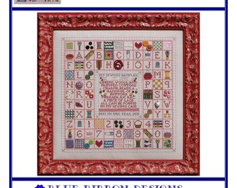 My Sewing Sampler (BRD-074) Cross Stitch Design