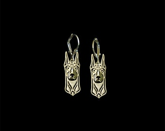 Doberman earrings - Gold
