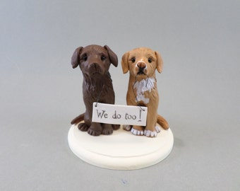 Personalized Dog Wedding Cake Topper