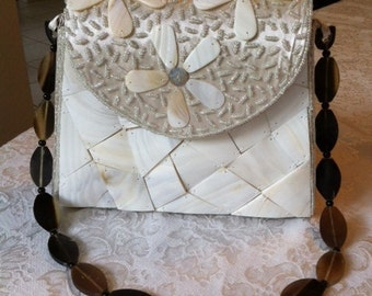 Shell And Beaded Purse