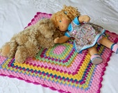 blanket knitted for the doll - clothes for dolls- Waldorf doll