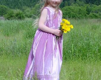 Girl's Velvet Dress-- Velvet Little Princess Jumper-- girls special occasion dress. girls Jumper. Easter dress. flower girl dress