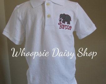 Boys University of Alabama Game Day Polo Shirt Go Bama Roll Tide