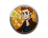 """Supernatural Button - Dean Winchester Button - 2"""" Pinback Button - Supernatural Magnet"""