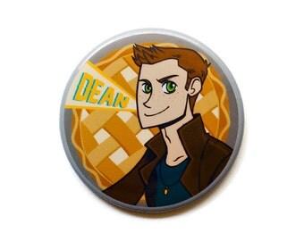 """Supernatural Button // Dean Winchester Button // 2"""" Pinback Button // Supernatural Magnet"""