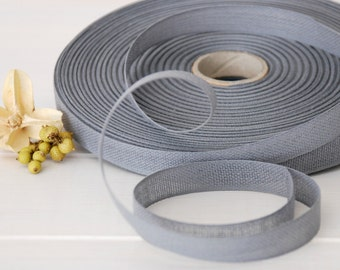 "Gray Cotton Ribbon - 3 or 6 Yards of 100% Cotton Ribbon - 1/2"" Wide - Loose Weave Gray Ribbon - Buy More and Save - Eco Friendly Ribbons"