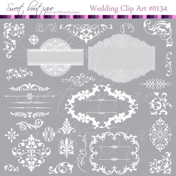 free wedding scrapbook clipart - photo #27