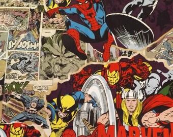 Marvel Comics Cotton Fabric