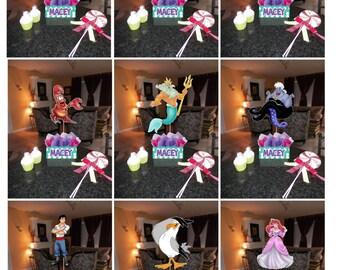 """DIY small 12"""" Little Mermaid Princess Ariel Birthday Party Centerpieces Centerpiece baby shower 1st birthday Mitzvah"""