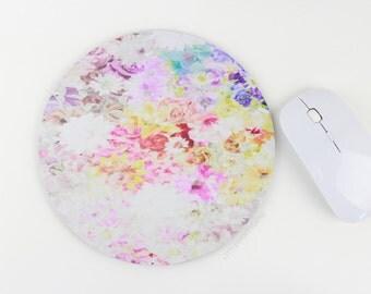 Mousepad / Floral Mouse Pad / Mat - Watercolor Flower Mousepad
