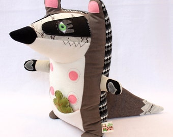 Mila the badger - plush woodland animal