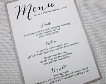 Popular Items For Elegant Wedding Menu On Etsy