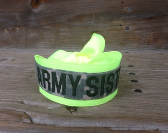 military acu name tape ARMY SISTER bracelet