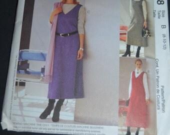 McCalls 2958 2 Hour Misses-Miss Petite Jumper Sewing Pattern - UNCUT - Sizes  8 10 12
