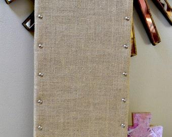 Fabric wrapped  Bulletin Board