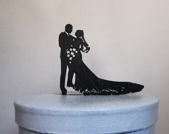 Wedding Cake Topper - Bride and Groom Silhouette