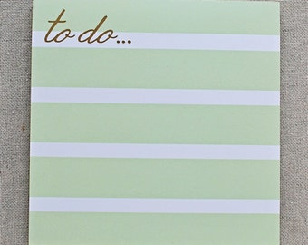 lime stripe notepad