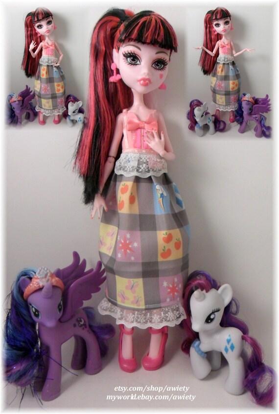Ooak My Little Pony Dress Monster High Ever