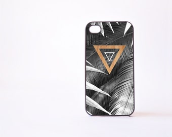 Palm Leaf Triangle iPhone 4 Case - Geometric iPhone 4s Case - Leaf Print iPhone 5 Case - Geometric iPhone Case - Accessories for iPhone 5s