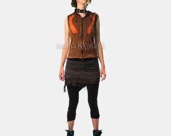 Pixie Wrap Mini Skirt  - Tutu -  Rave - Goa - Psy Fashion - Psy - Festival - Women - Polar skirt