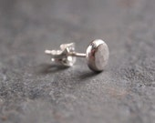 Single silver stud, silver stud earring, one earring for single piercing, 3mm, 5mm or 7mm diameter handmade hammered silver, ARC Jewellery