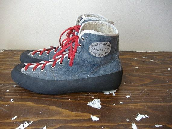 vintage rock climbing shoes asolo sport chouinard