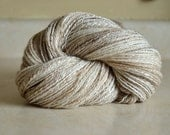 SALE Handspun Yarn- Baby Alpaca Luxury Blend, Fingering Weight 2-ply, 390 yards Sparkling Tundra