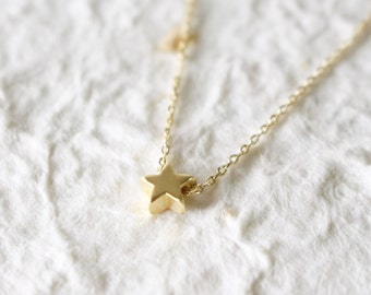 Thankful Sale 10% OFF - tiny wishing star necklace