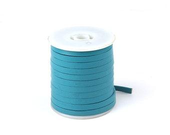 1 Yard Blue-green Genuine Flat Leather Cord, 5x1.5mm Flat Leather Cord For Bracelets, Flat Leather Strip, Pkg of 1 Yard, D0PQ.BG16.L1Y