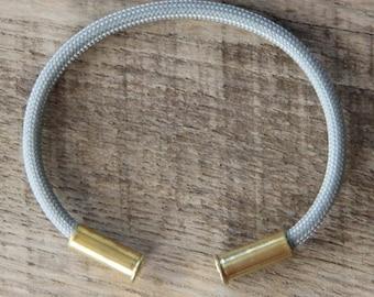 BRZN Recycled .22lr Bullet Casing Gray 550 Paracord Bracelet