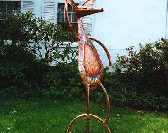 Balancing Act, Copper and Bronze Outdoor Sculpture