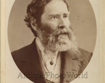 James Russell Lowell poet diplomat antique cabinet photo