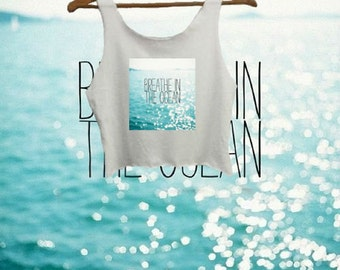 Breathe In The Ocean Crop Top