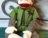 """Lg Rockford sock 21"""" Monkey girl doll w sculpted hands & feet plus outfit color options"""