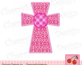 """Cross Embroidery Applique 06 -4x4 5x5"""""""