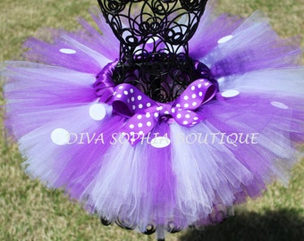 Purple Minnie Mouse Tutu - Birthday Minnie Mouse Tutu