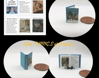 The SNOW QUEEN Miniature Book Dollhouse 1:12 Scale Illustrated Readable Book