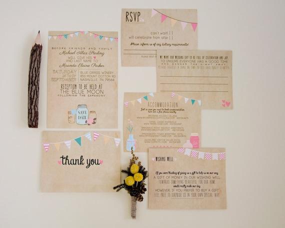 Wedding Invitation Suite DEPOSIT Printable By SplashOfSilver