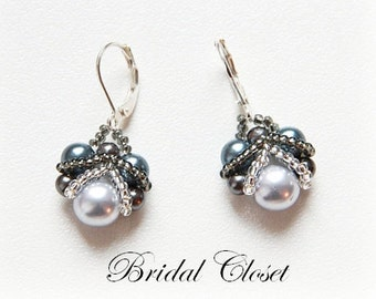 Bridal Pearl Earrings, Bridal Earrings Pearl , Pearl Earrings,  Wedding Earring, Pearl Bridal Jewelry, Bridesmaids Earrings