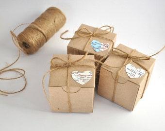wedding favor boxes kraft favor box map gift boxes set 2x2 box gift