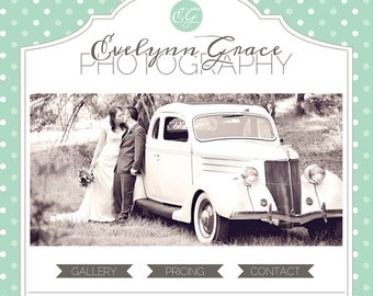 Premade Blogger Photography Template - Evelynn Grace Premade Premium Photography Blog Design