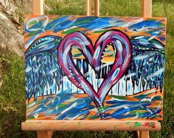 Abstract Heart Painting - Graffiti