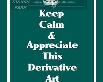 8x10 Keep Calm Decor, Parody Art, Funny Wall Art, Satire, Kitsch, Digital Art, Keep Calm and Carry On Print, College Wall Art, Hipster Art