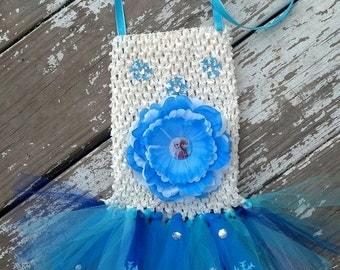Super Original FROZEN Tutu Purse - Features Wearable Flower Clip