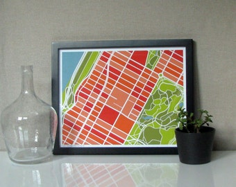 Upper West Side New York City Map Print