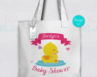 Baby Shower Tote Bag | Baby Shower Canvas Tote | Personalized Tote Bag | Rubber duck Baby Shower