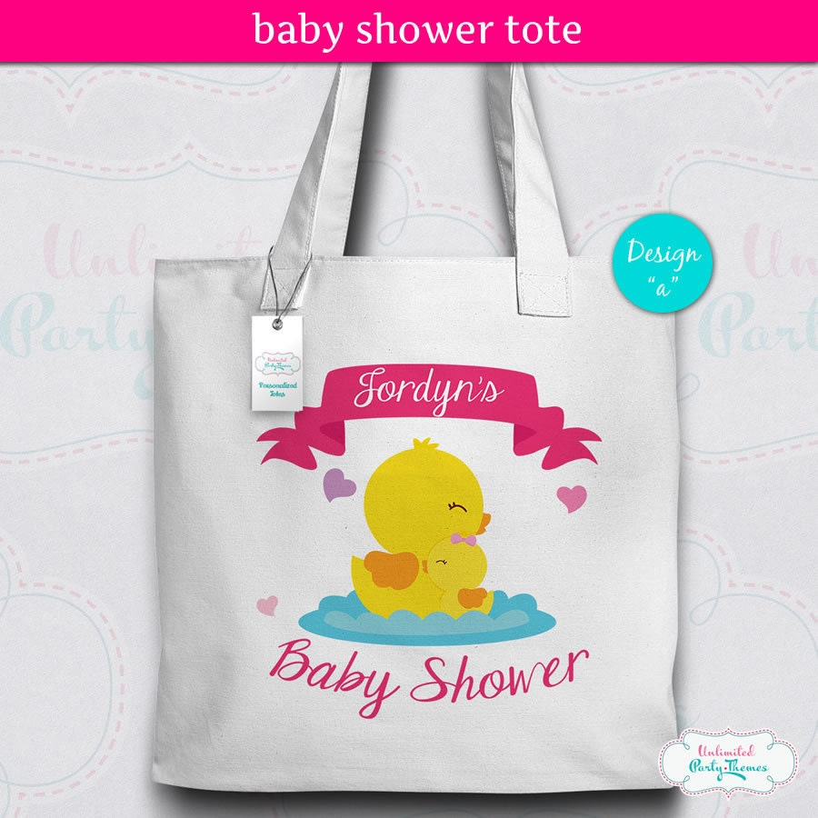 Baby Shower Tote Bag Baby Shower Canvas Tote Personalized