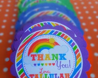 Rainbow Birthday Stickers, Favor Tags, Happy Birthday Stickers, Gift Tag, Favor Tag, Printable Favor Tags :No.524
