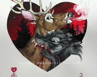 Amour Fou-Love story of Wolf and Deer