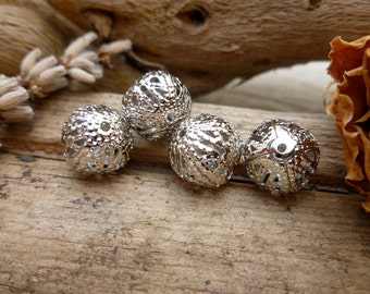 10x Silver Spacer Metal Beads, Charm, Findings, Jewellery Making C498